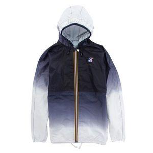 K-Way Claude Ombre Faded Blue Rain Coat  Zip Up